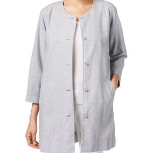 Eileen Fisher Three Quarter Sleeve Button Jacket L